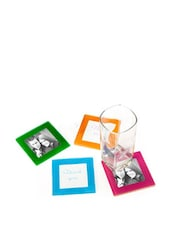 Glass Frame Coaster (Set Of 4) - Importwala
