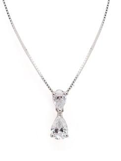 Sterling Silver Diamond Pendant - Tanya Rossi, Italy 9029