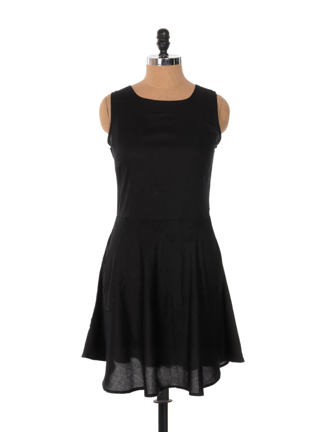 Black Frilly Dress With A Tie-up Bow On Back - Xniva
