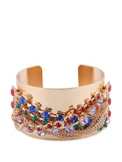 Gold Stone Embellished Cuff - CIRCUZZ