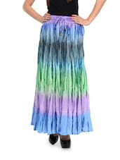 Multicoloured Long Skirt - Ruhaan's