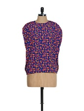 Multi-coloured Oversized Back Button Down Top - Femella
