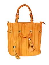 Stylish Orange Tote Bag With Tassels - SATCHEL Bags