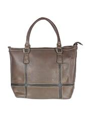 Trendy Dark Brown Tote Bag - SATCHEL Bags