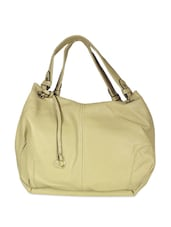 Cream Spacious Tote Bag - SATCHEL Bags