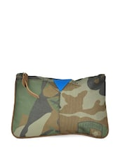 Green Army Prints Small Pouch - HARP