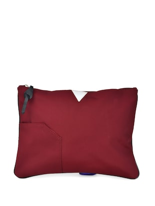 Maroon large travel pouch