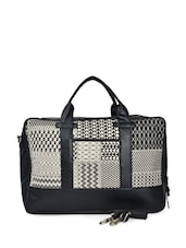 Black And White Bag With Laptop Compartment - HARP