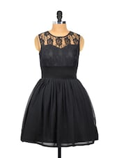 Cute Black Dress With A Frilly Base - Besiva