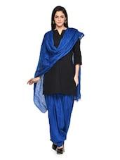 Royal Blue Patiala Salwar With Dupatta Set - Stylenmart