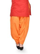 Orange Cotton Patiala Salwar - Stylenmart