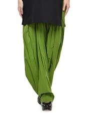 Solid Mehendi Green Cotton Patiala Salwar - Stylenmart