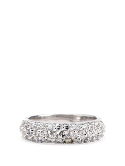 Sterling Silver Diamond Ring - Tanya Rossi, Italy 9059