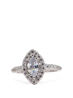 Sterling Silver Diamond Ring - Tanya Rossi, Italy 9061