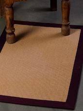 Beige Carpet Mat With Purple Border - Dorahomes
