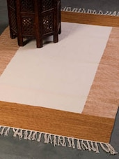 Elegant Brown And White Floor Carpet - Dorahomes