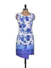 Floral Printed Asymmetrical Dress - Magnetic Designs