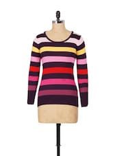 Multi-coloured Round Neck Sweater - SPECIES