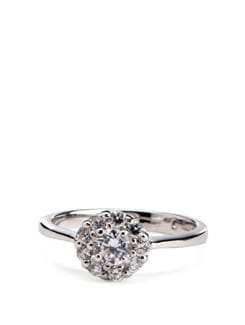 Sterling Silver Diamond Ring - Tanya Rossi, Italy 9069
