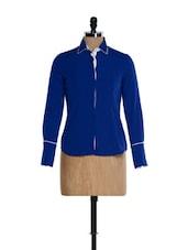 Royal Blue Formal Shirt - Kaaryah