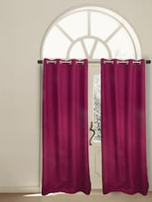 Berry Pink Cotton Window Curtain - HOUSE THIS