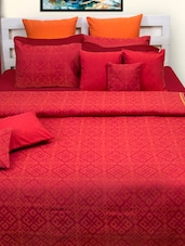 Brick Red Bed Cover Set - HOUSE THIS