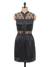 Lacy Black Sleeveless Dress - Schwof
