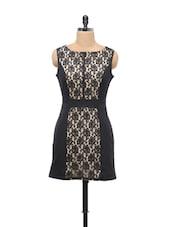 Black Lace Panel Dress - Schwof