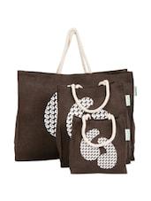 Quotations Jute Gift Bag Set (set Of 3) - Greenobag