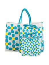 Floral Jute Gift Bag Set (Set Of 3) - Greenobag