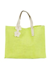 Bright Green Jute Handbag - Greenobag