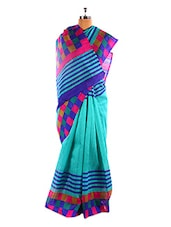 Elegant Blue Bhagalpuri Silk Saree With Blouse Piece - Riti Riwaz