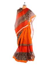 Elegant Printed Bhagalpuri Silk Saree With Blouse Piece - Riti Riwaz