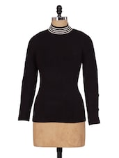 Black High-Neck Knitted Top - Renka