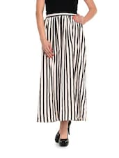 White And Black Striped Skirt - Meira
