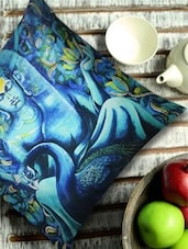 Classic Buddha Print Blue Cushion Cover - 13 Odds