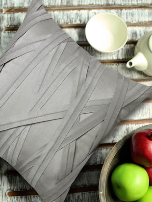 Contemporary Style Criss-Cross Light Grey Cushion Cover