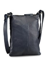 Classic Black Leather Sling Bag - Phive Rivers