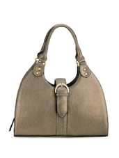 Glossy Muted Golden Leather Hand Bag - Phive Rivers