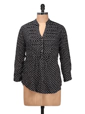 Black And White Polka-dotted Top - Silk Weavers