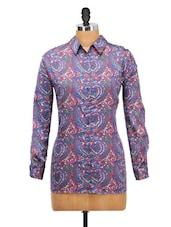 Multi Print Polyester Shirt - Oxolloxo