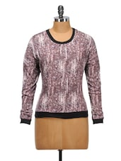 Scratchy Print Polyester Top - Oxolloxo
