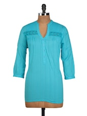 Turquoise Blue Cotton Top - Oxolloxo