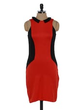 Red And Black Bodycon Dress - Eavan