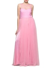 Flirty Pink Sleeveless Gown - Eavan