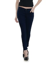 Ankle Length Navy Blue Jeggings - Dashy Club