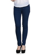 Stretchable Regular Dark Blue Jeans - Dashy Club
