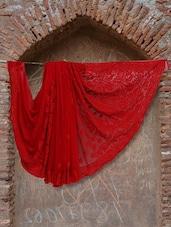 Gorgeous Red Chikankari Saree - Ada