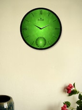 Green Leaf Design Wall Clock - Regent