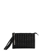 Black Studded Chic Clutch Bag - Miss Chase